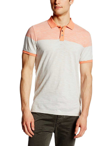 Two Color Block Short Sleeve Polo