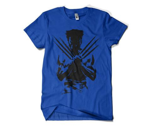 Wolverine Round Neck T-Shirt Blue.