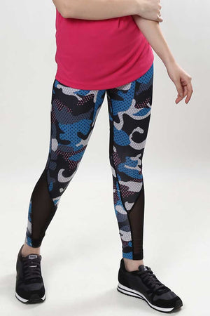 Camo Mesh Panel DRY FIT Leggings