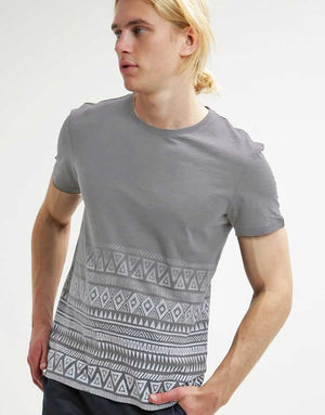Gray Tribal Print T-Shirt