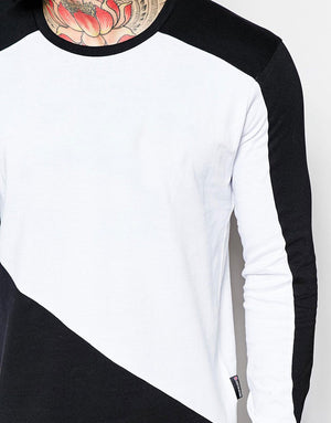 Long Sleeve T-Shirt With Contrast Sleeves