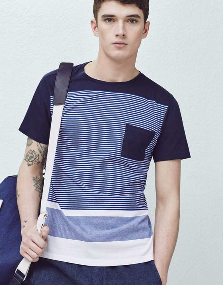 Contemporary Blue Stripped Tshirt