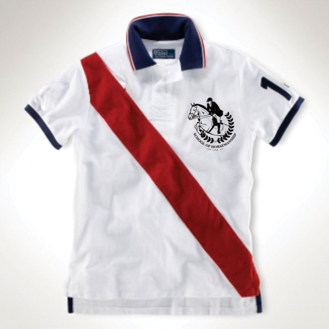 Polo By The Horsemen - White & Red.