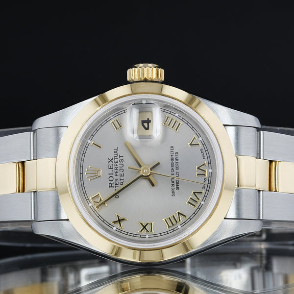 Rolex Datejust  -  69163 - 26mm - Grey Roman Numeral Dial - 1998 - Box And Papers