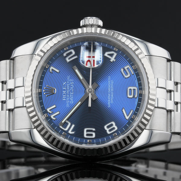 Rolex Datejust 116234 - 2005 - Blue Concentric Dial with Roulette Date