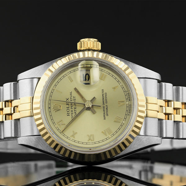 Ladies Rolex Datejust - 69173 - Champagne Roman Numeral Dial - 1993