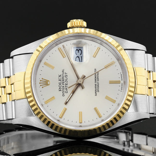 Rolex Datejust 16233 - 1989 - cream baton dial