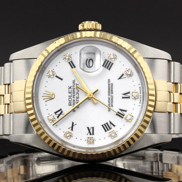Rolex Datejust 16233 - 1994 - Original White Rolex Factory Fitted Diamond Dot Dial