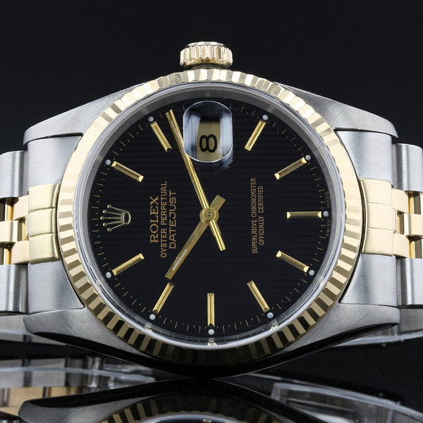 Rolex Datejust 16233 - 1992 -  Black Shade Dial - Box And Papers