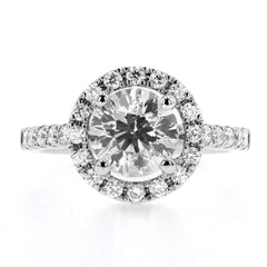 Diamond Halo Style Cluster Ring