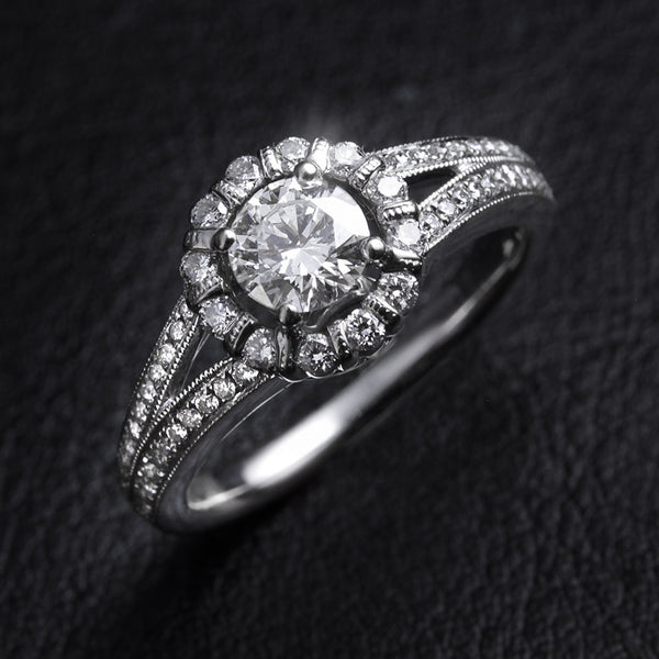 Diamond Cluster ring In 18ct White Gold