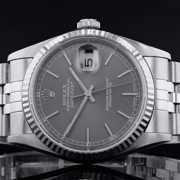 Rolex Datejust Grey Dial 16234 - 1995