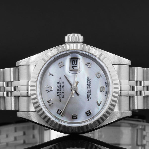 Ladies Rolex Datejust -  79174 - 2002  - Mother Of Pearl Arabic Dial - Box And Papers