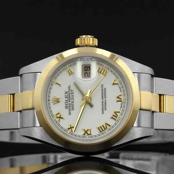 Ladies Rolex Datejust 79163 - 2000  - White Roman Numeral Dial - Box And Papers