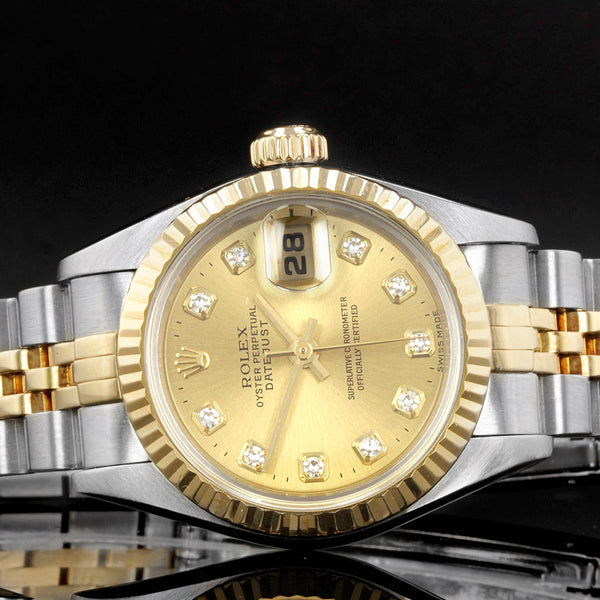 Rolex Datejust 26mm 69173 - 1999 - Rolex Factory Fitted Diamond Dot Dial
