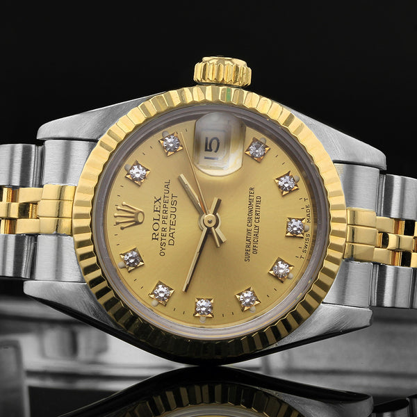 Rolex Datejust 26mm 69173 - 1991 - Rolex Factory Fitted Diamond Dot Dial