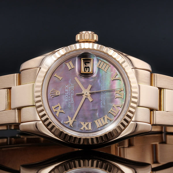 Ladies Rolex 179175 - Datejust - 2001 - Rose Gold With Mother Of Pearl Dial