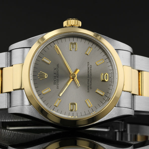 Ladies Rolex Oyster Perpetual - 67483 - 31mm Midsize - 1999