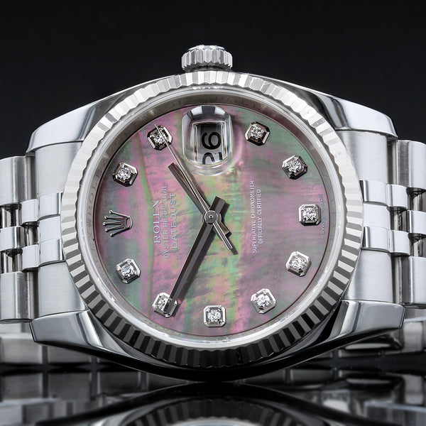 Rolex Datejust 116234 - 2007 - Rolex Factory Mother Of Pearl Diamond Dot Dial with concealed clasp