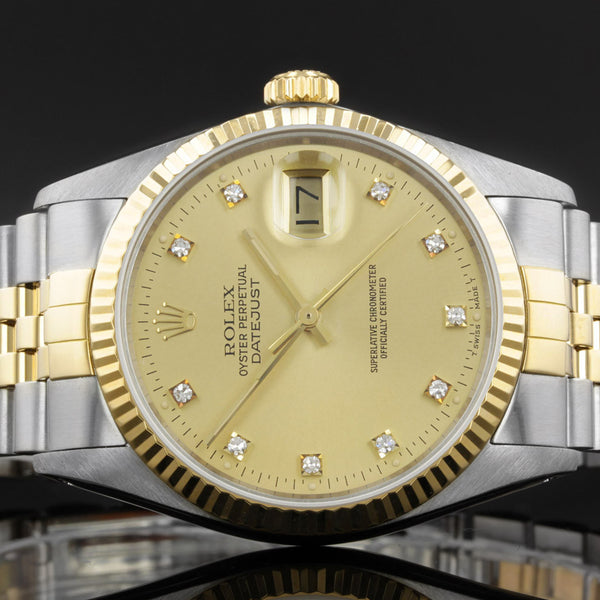 Rolex Datejust 16013 - 1987 - Rolex Factory Fitted Diamond Dot Dial