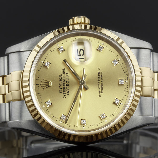 Rolex Datejust 16233 - 1994 - Rolex Factory Fitted Diamond Dot Dial