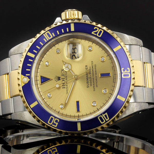 Rolex Submariner 16613 - 1997- with sapphire and diamond dial