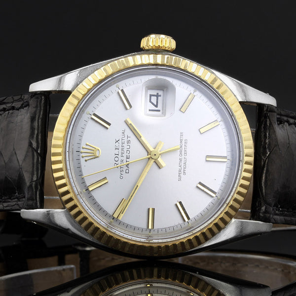 Vintage Rolex Datejust 1601 - 1969 - Grey and Gold Dial