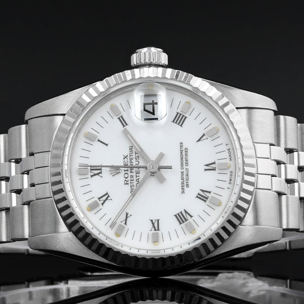 Ladies Rolex Datejust 68274 - 1987 - 31mm midsize - Box And Papers
