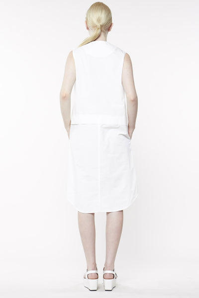 DEFECTOR SHIRT DRESS WHITE