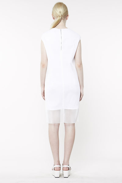 CAST MESH DRESS WHITE