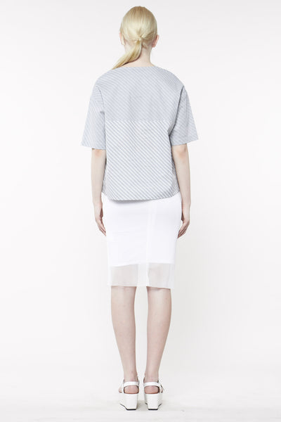 CAST MESH SKIRT WHITE