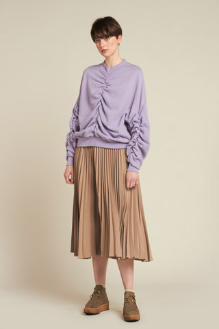 Fuse Ruched Sweater Lilac