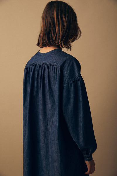 Desert Smock Dress Mid Wash Inidgo Denim