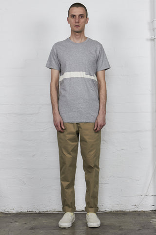 Center S/S Tee Grey Marle