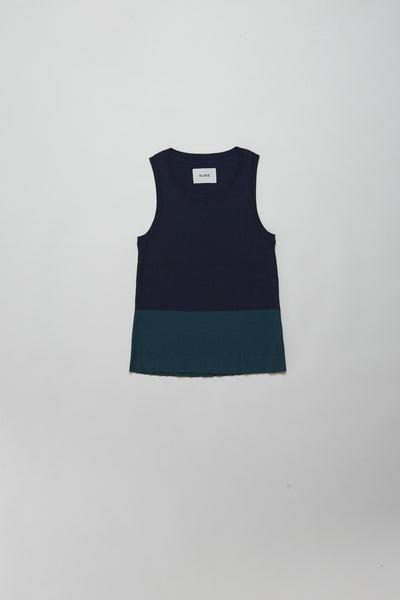 Prelude Tank Ink Navy / Teal