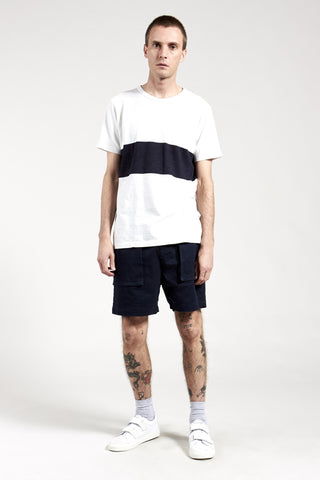 Molten Force Tee White / Ink Navy Stripe