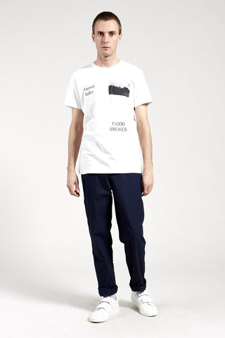10,000 Smokes Tee: Mens White