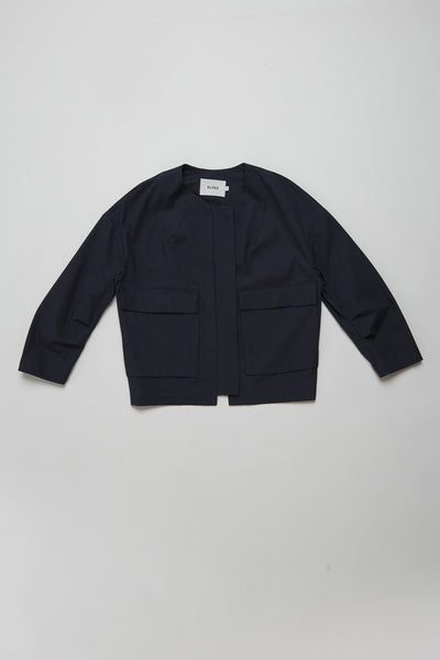 Acquire Jacket Stripe Ink Navy