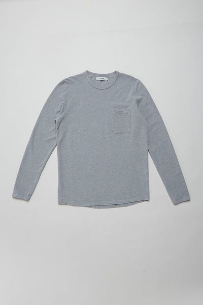 Pique Long Sleeve Grey Marle
