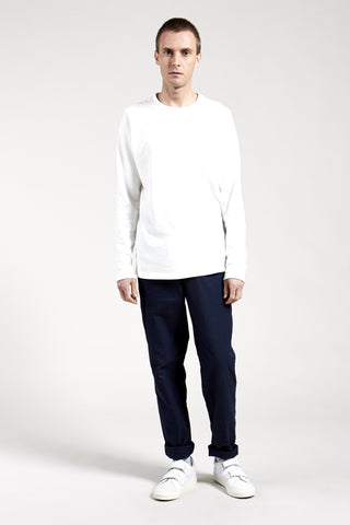 Pique Long Sleeve White
