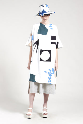 Kuhio Print Dress White Print