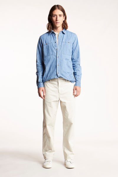 Basis Shirt Bleached Denim