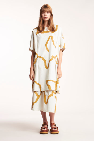 Perseverance Dress Print Chalk Desert
