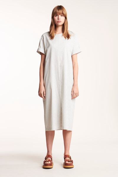 Release Cotton Dress Fine Stripe