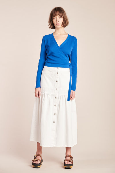 Specture Denim Skirt White
