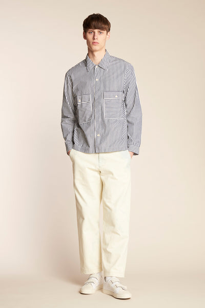 Antipodes Overshirt Mid Stripe Ink