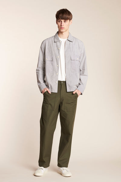 Antipodes Overshirt Thin Stripe Ink