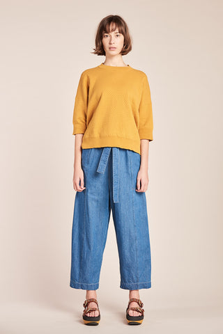 Breach Knit Top Ochre