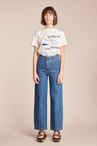 Women's Fata Morgana Tee White/Ultramarine