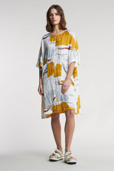 Pilaster Dress Fata Morgana Print